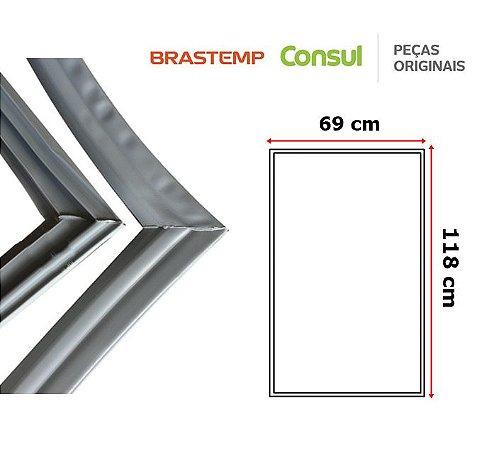 Gaxeta Borracha Porta Refrigerador Brastemp 440l Antiga 118x69 Duplex