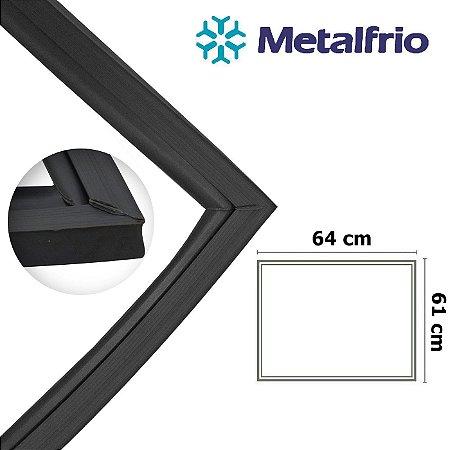 Gaxeta Borracha Porta Freezer Metalfrio Horizontal 470l 480l 61x64 Sem Aba