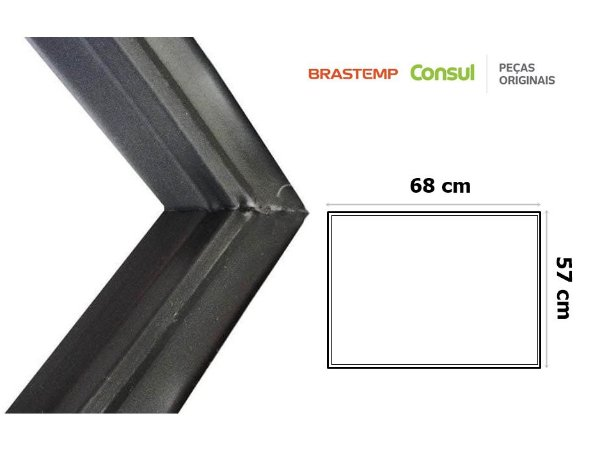 Gaxeta Borracha Porta Freezer Horizontal Consul Chb42 Cha42 68x57 Canaleta