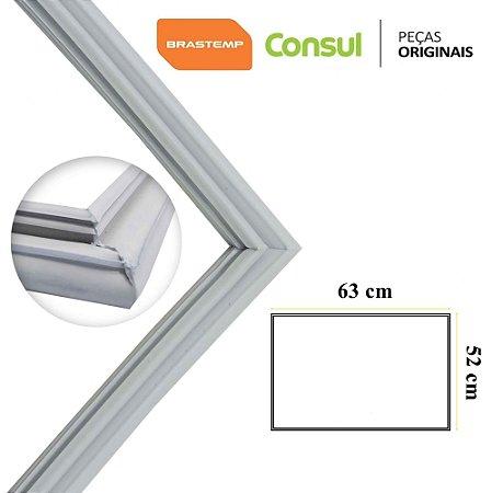 Gaxeta Borracha Porta Refrigerador Consul Brastemp 63x52 Crd48 Brm48 Superior