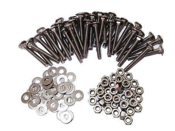 Kit parafusos aço inox Búzios 1,5m - Policog