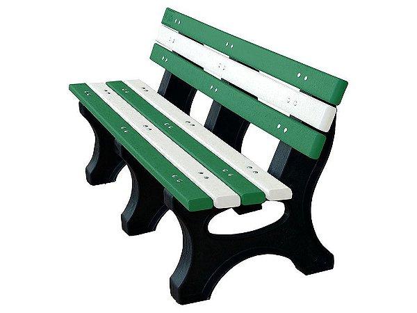 Banco Búzios personalizado madeira plástica 1,50m Verde e branco - Policog