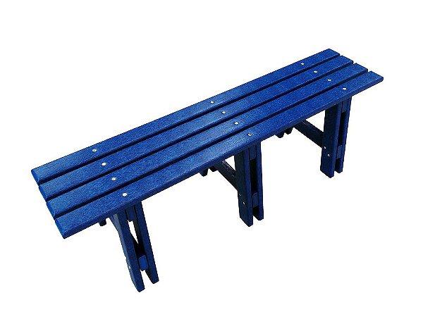 Banco Tarituba madeira plástica 1,50m azul - Policog