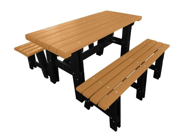 Mesa Colonial madeira plástica 2m - Policog
