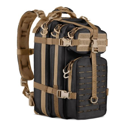 MOCHILA ASSAULT LASER CUT - PRETO/COYOTE
