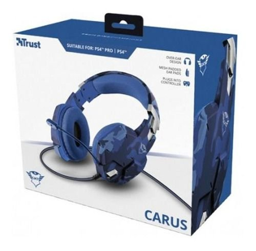 Headset GXT 322B Carus Gaming para PS4 Trust