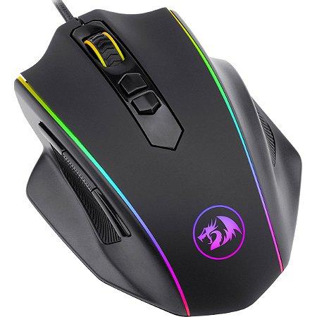 Mouse Gamer Redragon Vampire M720, RGB, 8 Botões, 10000DPI - M720-RGB