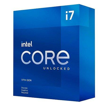 Processador Intel Core i7 11700K 3.6GHz (5.0GHz Turbo), 11ª Geração, 8-Cores 16-Threads, LGA 1200, BX8070811700K