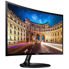 Monitor Gamer Samsung CF390 Curvo 24 Pol, Full HD, 60Hz, 4ms, LC24F390FHLMZD