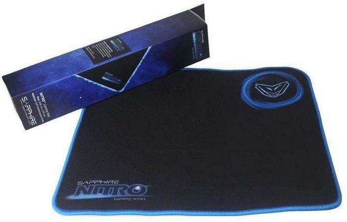Mousepad Gamer Médio Sapphire Nitro 32 x 27 cm - Preto