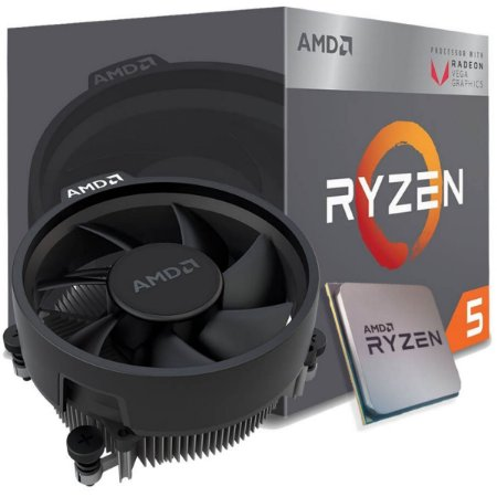 Processador AMD Ryzen 5 2400G 3.6GHz (3.9GHz Turbo), 4-Cores 8-Threads, Cooler Wraith Stealth, AM4,