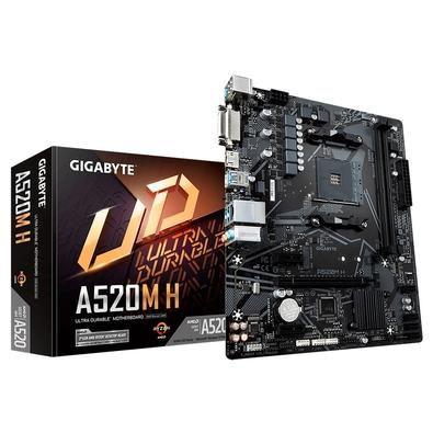 Placa Mãe Para AMD Socket AM4 GigaByte A520M H (rev. 1.0)
