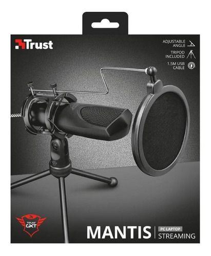 Microfone USB com tripé Trust  MANTIS GXT 232 Streaming