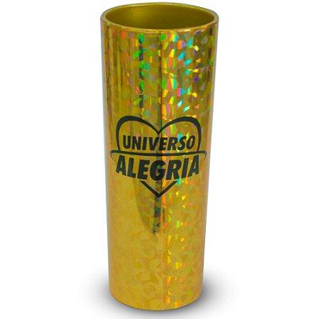 Copo 330ml Holográfico Dourado