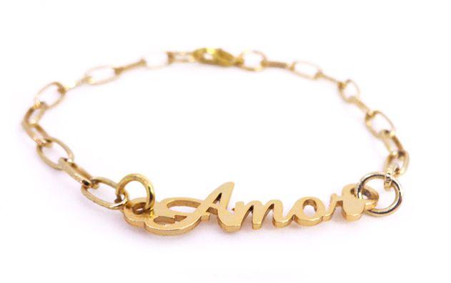 Pulseira Feminina Amor Dourada