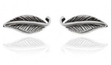 Brinco de Prata 925 Folhinha 7mm