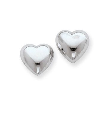 Brinco de Prata Coração Liso