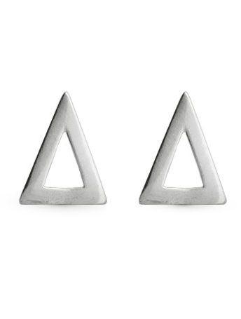 Brinco de Prata Triângulo Vazado 1º Furo