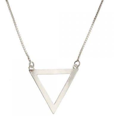 Gargantilha de Prata Triângulo - Elemento Água