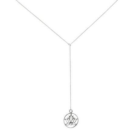 Gravatinha de Prata Flor de Lótus
