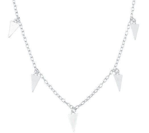 Choker Prata Triângulos