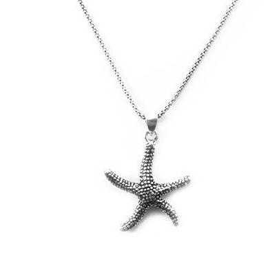 Pingente de Prata Feminino Estrela do Mar Pequeno