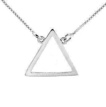 Gargantilha de Prata Triângulo - Elemento Fogo