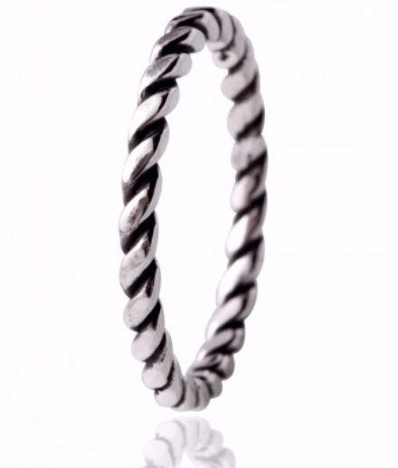 Anel de prata Feminino Torcidinho