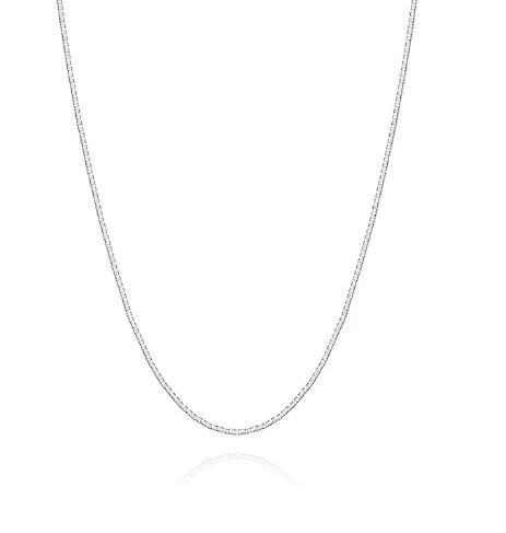 Corrente de Prata Feminina Veneziana I 80cm