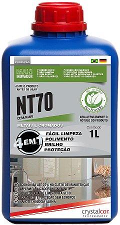 NT70 - Metais e Cromados Impermeabilizante, Multipolidor e Protetor 1 Litro  - Performance Eco