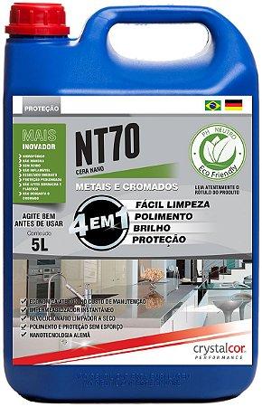 NT70 - Metais e Cromados Impermeabilizante, Multipolidor e Protetor 5 Litros - Performance Eco