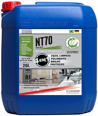 NT70 - Metais e Cromados Impermeabilizante, Multipolidor e Protetor 20 Litros  - Performance Eco