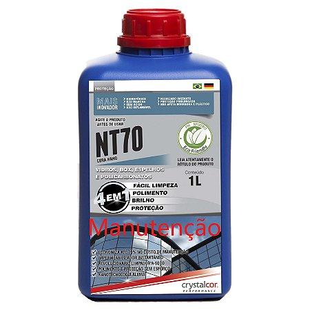 NT70 - Manutenção - Vidros e Acrílicos Impermeabilizante Instantâneo 1 Litro - Performance Eco