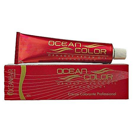 Creme Colorante Tintura Profissional 6.71 Louro Escuro Marrom Acinzentado 60g - Ocean Hair