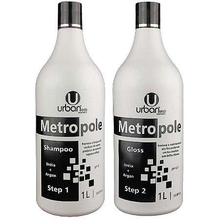 Escova Progressiva Metropole Ureia + Argan 2x1 Litro - Urban Eco
