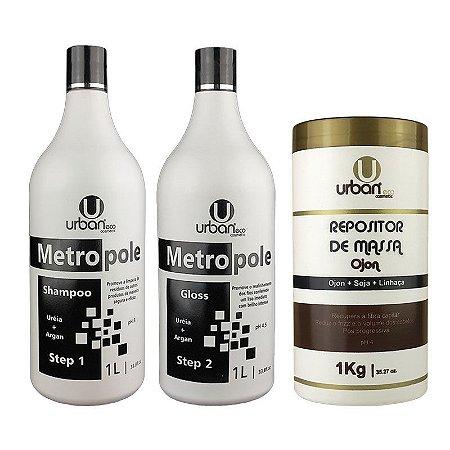 Escova Progressiva Metropole Ureia + Botox Repositor de Massa - Urban Eco