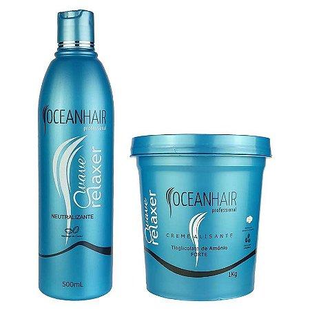 Kit Relaxamento Wave Relaxer de Tioglicolato de Amônio - Ocean Hair