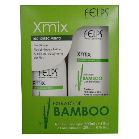 Kit Xmix Duo Extrato de Bamboo Shampoo e Condicionador Home Care - Felps Profissional