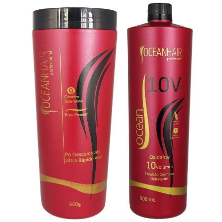 Pó Descolorante Ultra + Água Oxigenada 10 Volumes - Ocean Hair