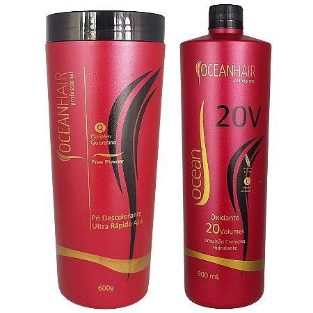 Pó Descolorante Ultra + Água Oxigenada 20 Volumes - Ocean Hair