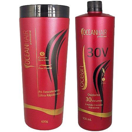 Pó Descolorante Ultra + Água Oxigenada 30 Volumes - Ocean Hair