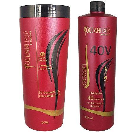 Pó Descolorante Ultra + Água Oxigenada 40 Volumes - Ocean Hair