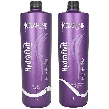 Shampoo e Condicionador Nutritivo Hydrativit 2x1 Litro - Ocean Hair