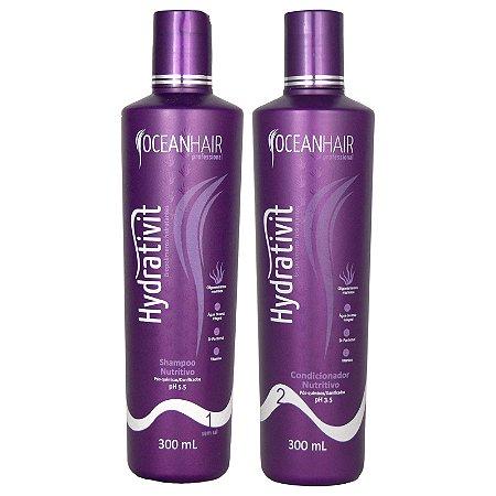 Shampoo e Condicionador Nutritivo Hydrativit Homecare 300ml - Ocean Hair