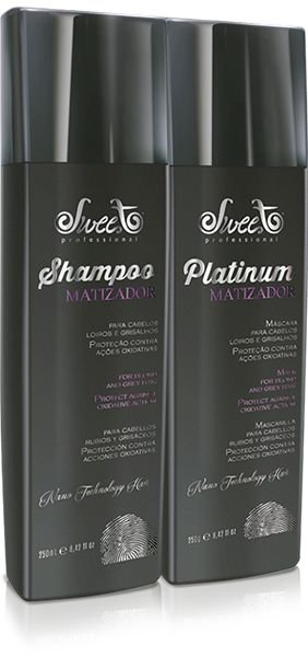 Shampoo e Máscara Matizadora Platinum 2x250ml - Sweet Hair