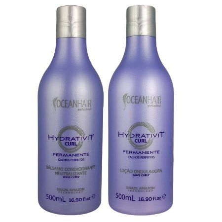 Sistema Permanente de Cachos Perfeitos Hydrativit Curl - 2x500ml - Ocean Hair