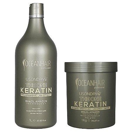 The One Keratin Lisonday Sistema de Reconstrução Botox + Shampoo Lisonday - Ocean Hair