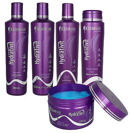 Kit Hidratação Cauterização Nutritivo Hydrativit Homecare - Ocean Hair