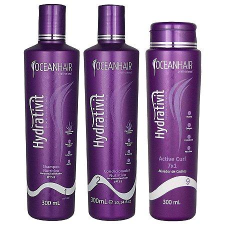 Kit Hidratação Nutritivo Modelador Hydrativit Homecare - Ocean Hair