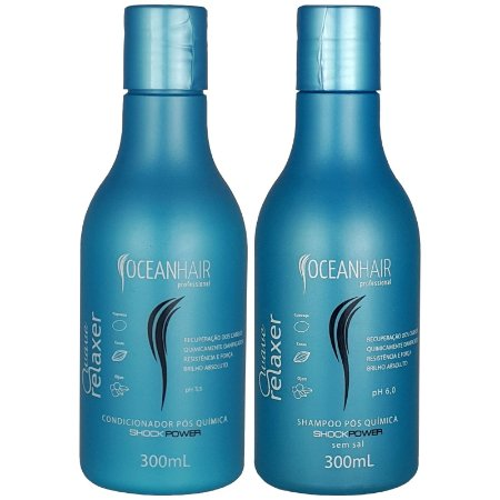 Shampoo e Condicionador Pós Quimica Shock Power 300ml - Ocean Hair